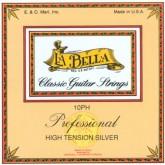 سیم گیتار کلاسیک لا بلا 10PH LA BELLA Classical Guitar Strings 10PH Professional High Tension Silver